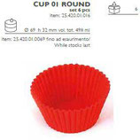 CUP01 ROUND Pirottino in silicone