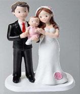 Sposi con baby rosa