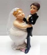 Sposi over humor con bacio