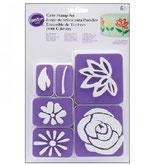 Cake stamp set fiori