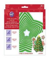 Set 15 tagliapasta albero di Natale