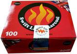 WLM Carton de 10 Rouleaux charbons ardents Swift-Lite 33 MM