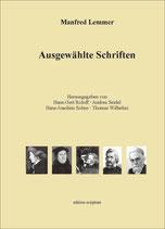 Manfred Lemmer: Ausgewählte Schriften