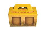 Geschenkverpackung für 2 x 500 g Honigglas