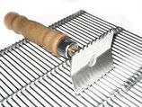 Reinigungskratzer für Metallabspergitter