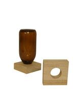 Holzvierkant mit Loch für die 200ml Säureflasche