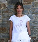 Camiseta cisne rosa