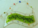"""Kleines Schild """"Willkommen"""""""
