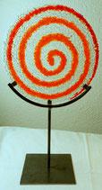 """Glasskulptur """"Spirale"""""""