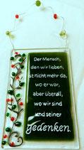"""Spruchtafel """"Der Mensch den wir lieben"""""""