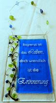 """Spruchtafel """"Begrenzt ist das Leben"""""""