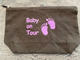 "Wickeltasche ""Baby on tour"" lila Glitzer"