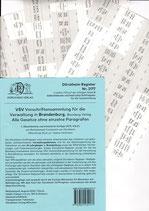 Griffregister VSV BRANDENBURG Vorschriftensammlung f.d. Verwaltung (Boorberg) - Nr. 2177