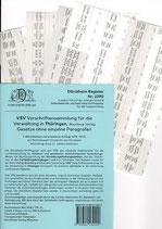 Griffregister VSV THÜRINGEN Vorschriftensammlung f.d. Verwaltung (Boorberg) - Nr. 2290