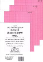 BLANKO ROSA (Beschreibbar) - Nr. 2863