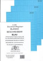 BLANKO BLAU (Beschreibbar) - Nr. 2849