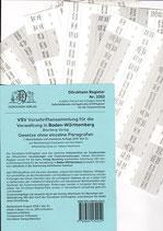 Griffregister VSV BADEN-WÜRTTEMBERG Vorschriftensammlung f.d. Verwaltung (Boorberg) - Nr. 2252