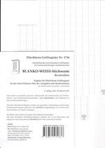 Griffregister Blanko Weiss (Beschreibbar) - Nr. 1736