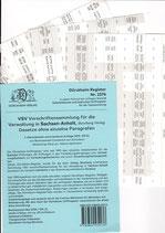 Griffregister VSV SACHSEN-ANHALT Vorschriftensammlung f.d. Verwaltung (Boorberg) - Nr. 2276
