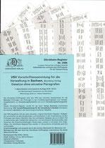 Griffregister VSV SACHSEN Vorschriftensammlung f.d. Verwaltung (Boorberg) - Nr. 2184