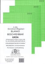 BLANKO GRÜN (Beschreibbar) - Nr. 2856