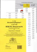 BGB für Steuerrecht  ZIFFERN und Akronyme  - DürckheimRegister Nr. 2948