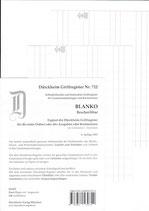 Griffregister Blanko Weiss (Beschreibbar) - Nr. 722