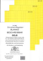 BLANKO GELB (Beschreibbar) - Nr. 2832