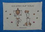 """Der kleine Yogi Traubenkernkissen """"Ich steh auf Yoga"""""""