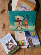 Kartenset Herzenhopsen mit Geschenktasche