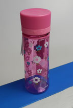 Aladdin Kinder-Trinkflasche rosa Blümchen