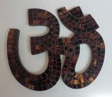 """Wandrelief """"Om Mosaik"""" gold - braun"""