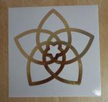 """Die Venusblume"" - Goldfolienaufkleber 21 cm"