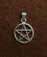 Pentagramm - Anhänger mit Rand