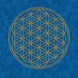 Poster Blume des Lebens - blau