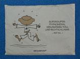 """Der kleine Yogi Traubenkernkissen """"Superduper-phänomenal megamäßig toll und richtig klasse bist du"""""""