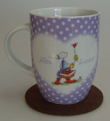 """Oups Tasse """"Alles Liebe"""" lila"""