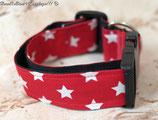 Halsband, Rot- weiße Sterne, Acetal