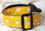 Halsband, knallig Gelb- weiße Sterne, Acetal