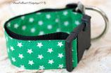 Halsband Grün - weiße Sterne, Acetal