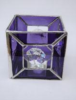 Teelicht Würfel Kristall