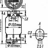 Радиолампа электровакуумная пентод ГУ-81м