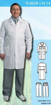 Халат медицинский мужской X-0628 + Н-14
