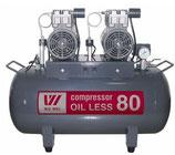 Безмасляный компрессор OIL LESS 80 (W-604)
