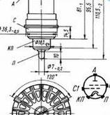 Радиолампа электровакуумная триод ГИ-6Б