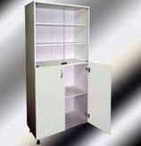 Двухстворчатые медицинские шкафы М202-03 с нижними дверцами