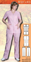Костюм медицинский женский  В-321 + Н-3