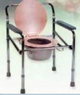 Кресло-туалет переносное складное LK8005