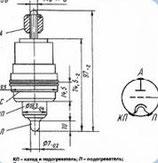 Радиолампа электровакуумная триод ГИ-70Б (ГИ-7Б)