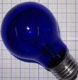 Лампа синяя БС 230-240-60 E27